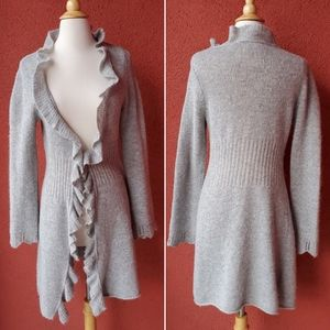 Anthropologie Ruffle Front Cardigan
